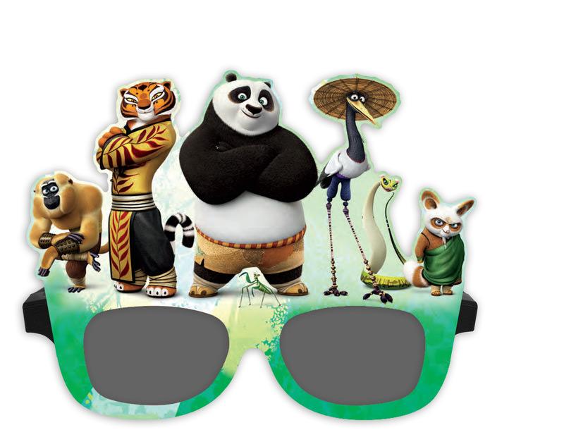 46a6b6d7e8 Kung Fu Panda Paper Masks for RealD 3D Glasses. © 2019 Creative Vision  Graphics ...